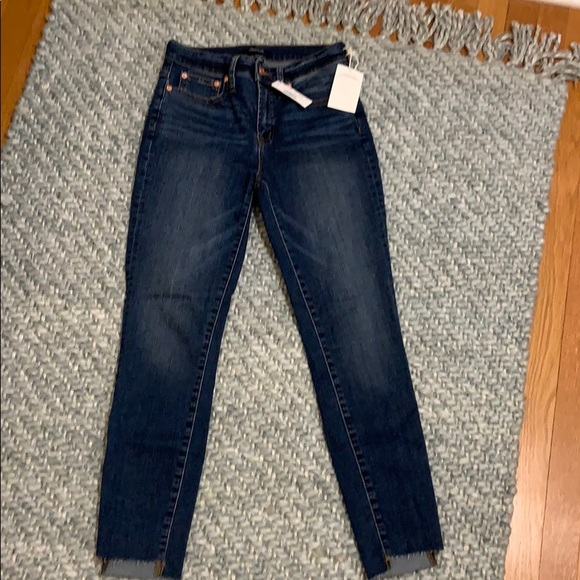 "J. Crew Denim - J Crew 9"" high rise toothpick jeans denim step hem"